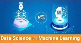 machine learning differs from data science